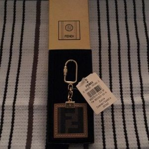 Vintage Fendi Zucca Keychain